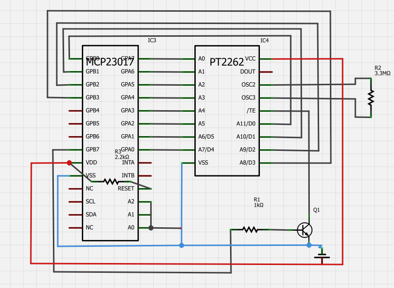 Raspberry-I2C-Funksteckdosen-Schaltung